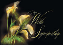 Illuminating Lilies Sympathy Cards